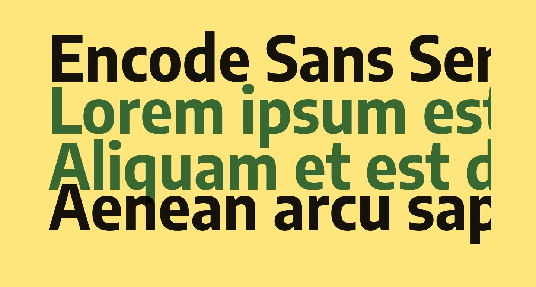Encode Sans Semi Condensed Bold