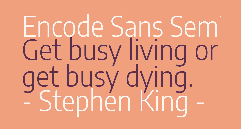 Encode Sans Semi Condensed Light