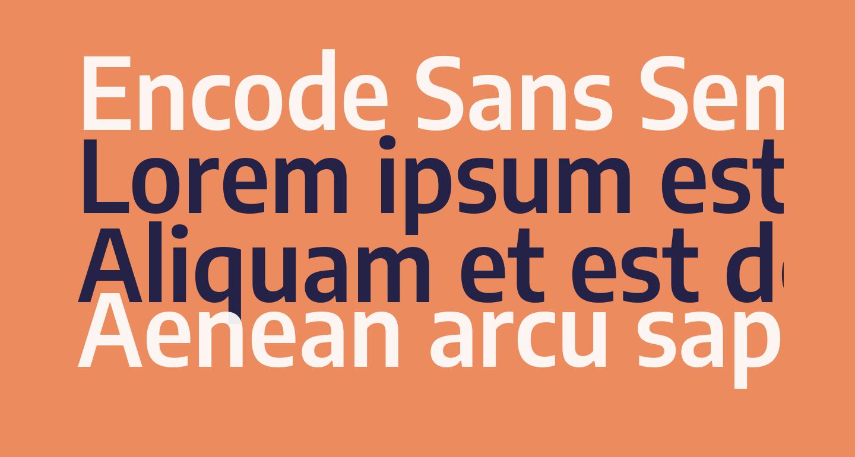 Encode Sans Semi Condensed SemiBold