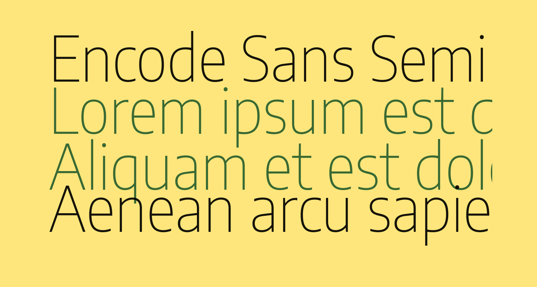 Encode Sans Semi Condensed Thin