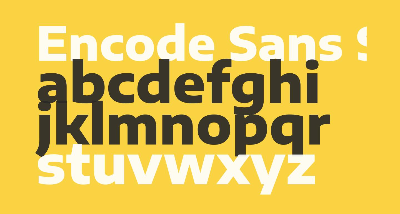 Encode Sans Semi Expanded ExtraBold