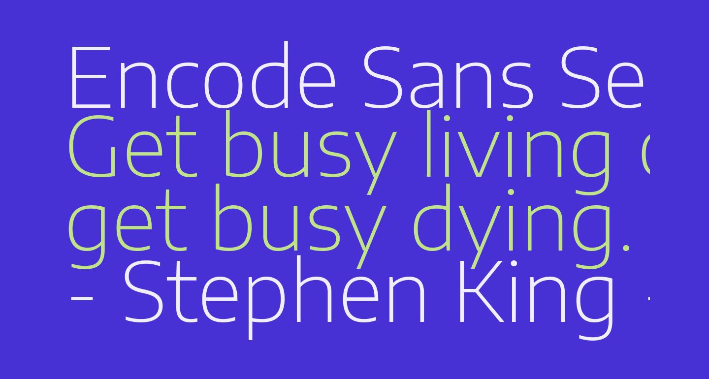 Encode Sans Semi Expanded ExtraLight
