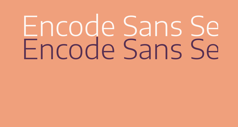 Encode Sans Semi Expanded Light