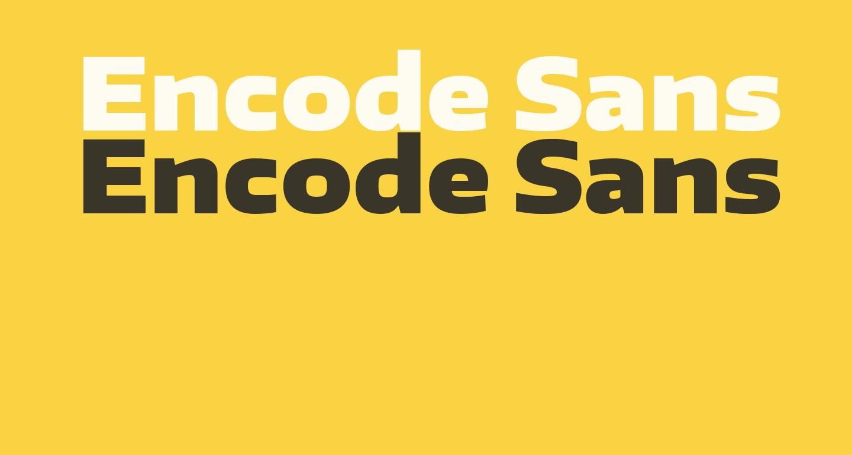 Encode Sans Wide Black
