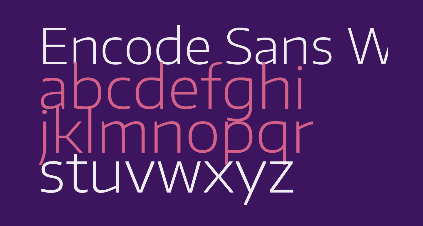 Encode Sans Wide ExtraLight