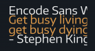 Encode Sans Wide