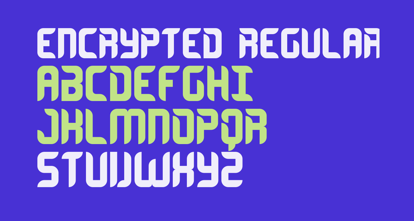 Encrypted Regular