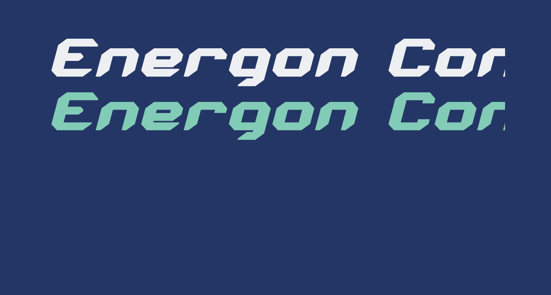 Energon Condensed Italic