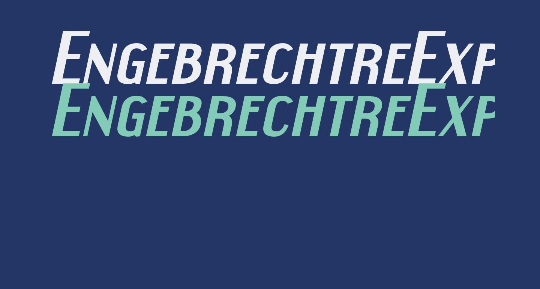 EngebrechtreExp-BoldItalic