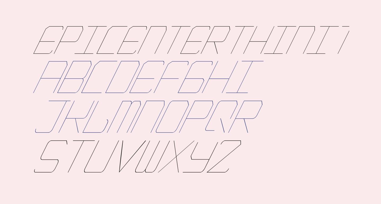 EpicenterThinItalic