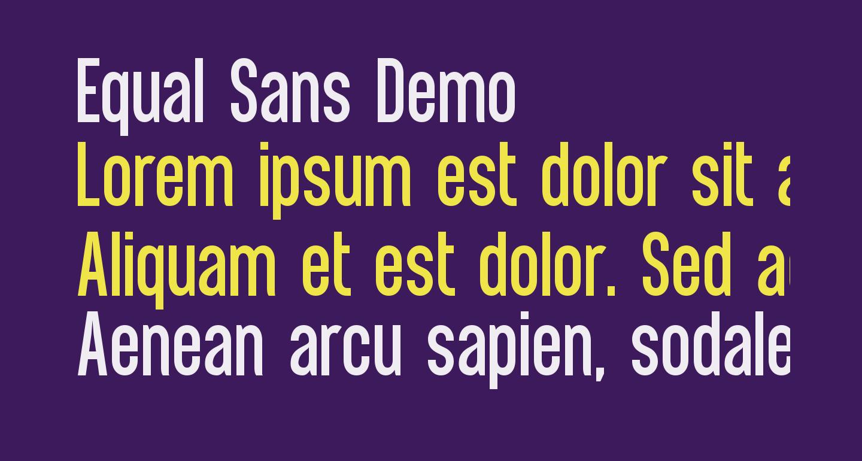 Equal Sans Demo