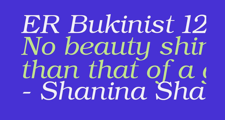 ER Bukinist 1251 Italic