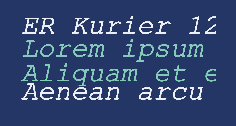 ER Kurier 1251 Italic