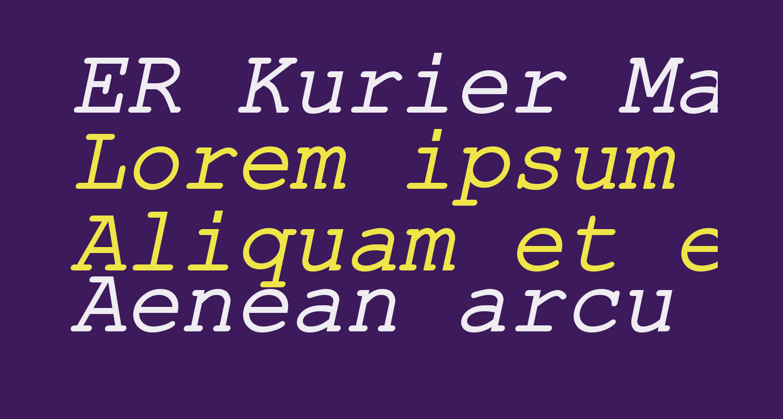 ER Kurier Mac Italic