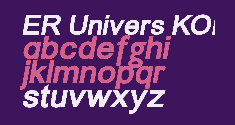 ER Univers KOI-8 Bold Italic