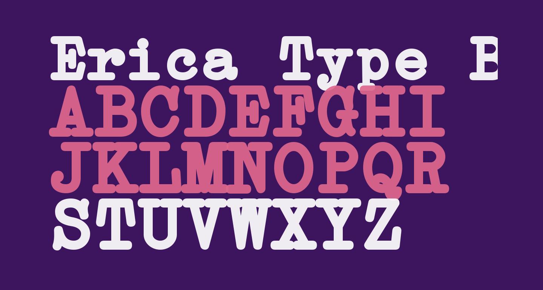Erica Type Bold