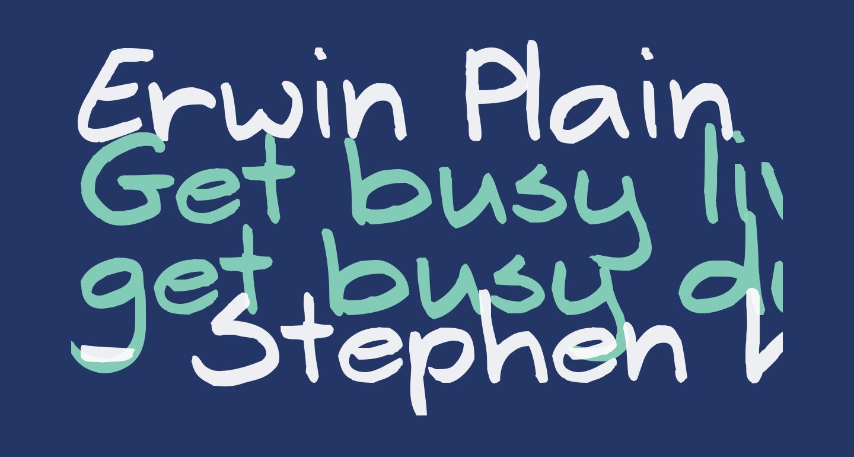 Erwin Plain