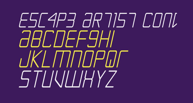 Escape Artist Condensed Semi-Italic