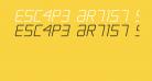 Escape Artist Semi-Italic
