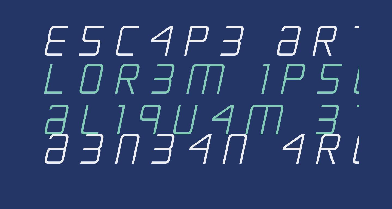Escape Artist Ttitle Semi-Italic