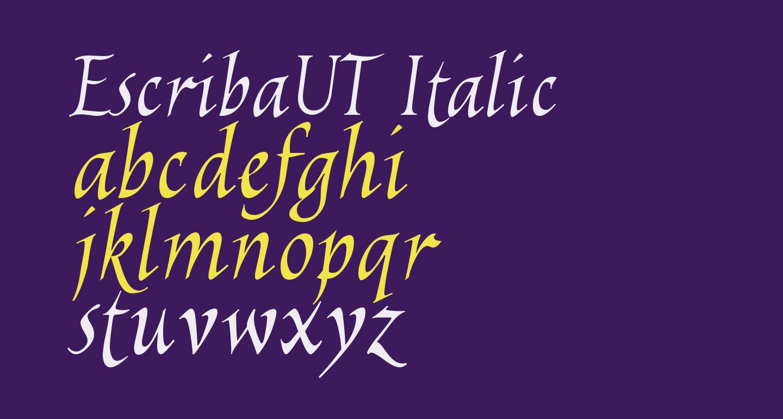 EscribaUT Italic