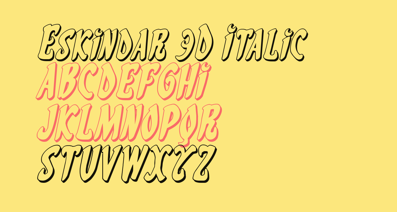 Eskindar 3D Italic