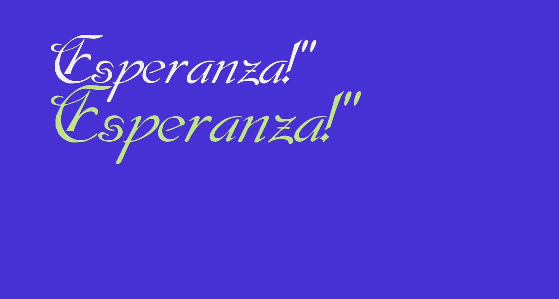 Esperanza!'