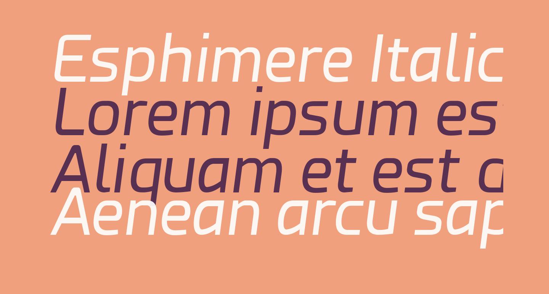 Esphimere Italic