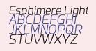 Esphimere Light Italic