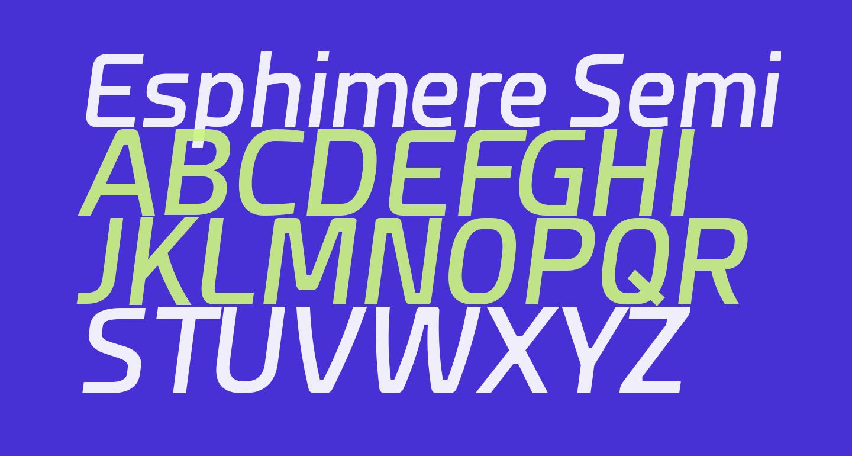 Esphimere Semi Bold Italic