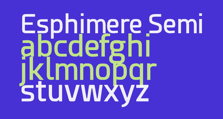 Esphimere Semi Bold