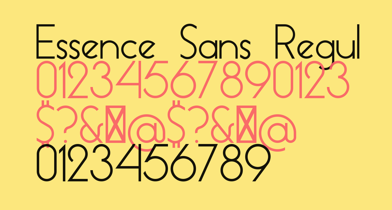 Essence Sans Regular