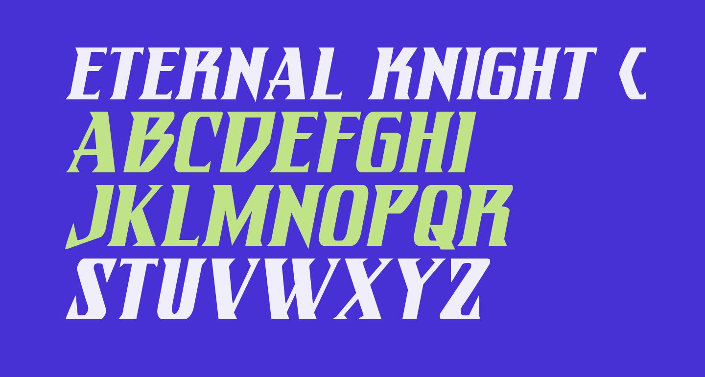 Eternal Knight Condensed Italic