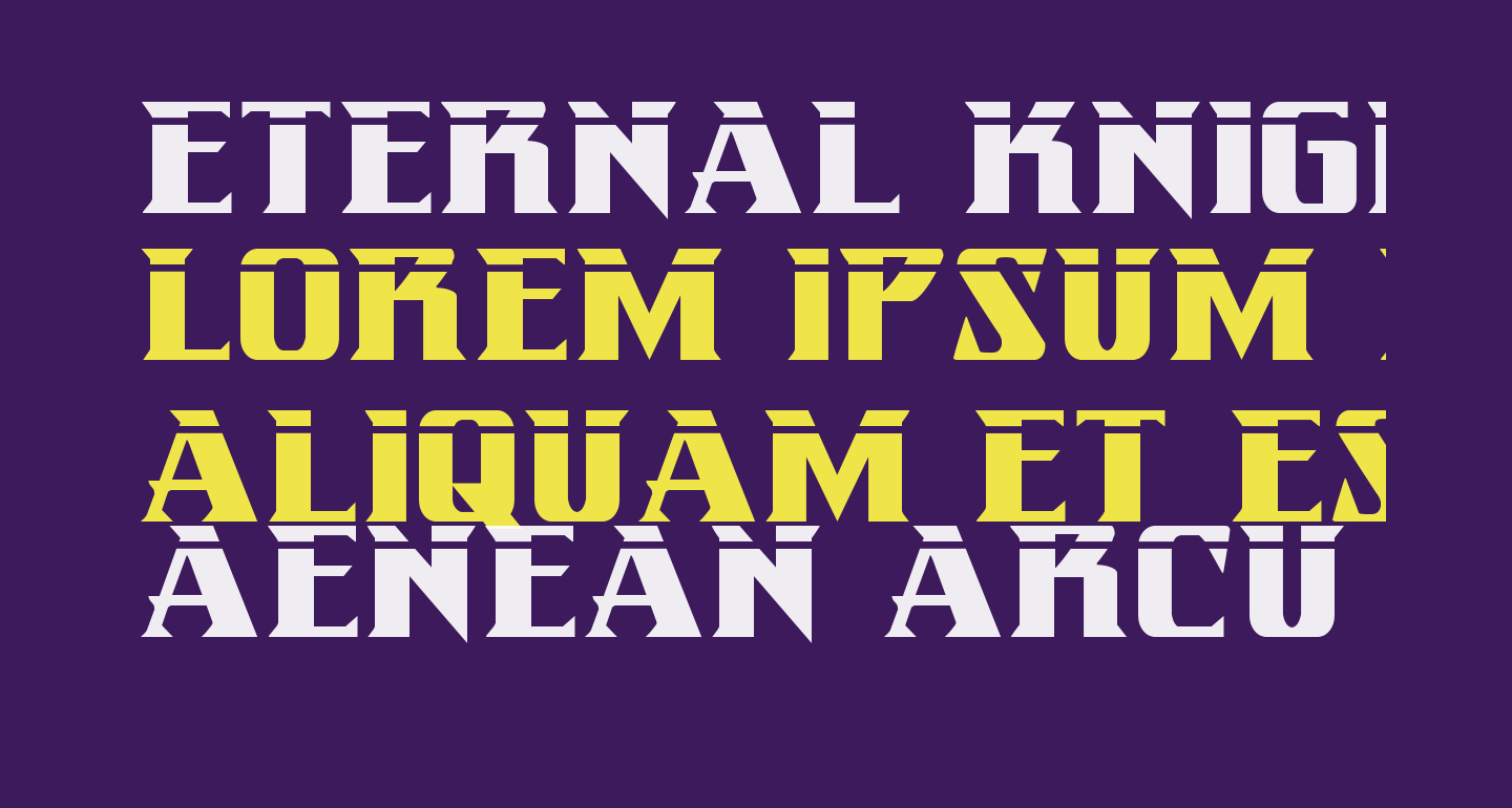 Eternal Knight Laser Regular