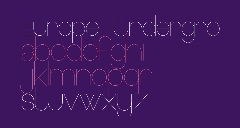 Europe Underground Light