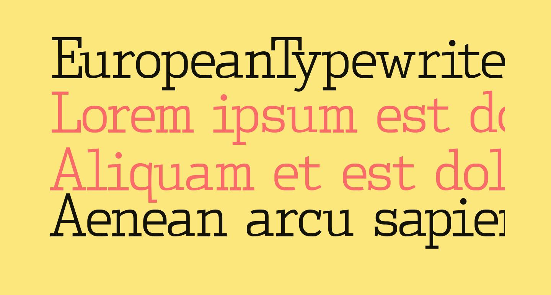 EuropeanTypewriter