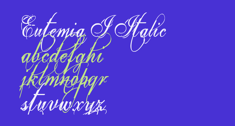 Eutemia I Italic