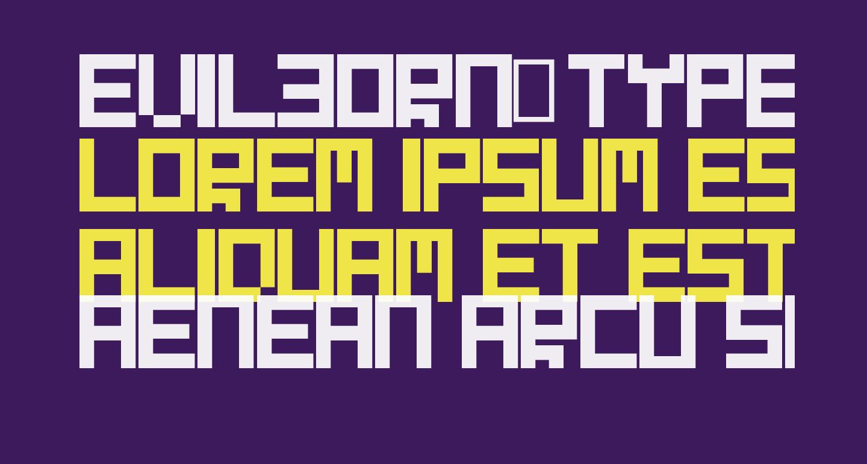 Evilborn-Typeface
