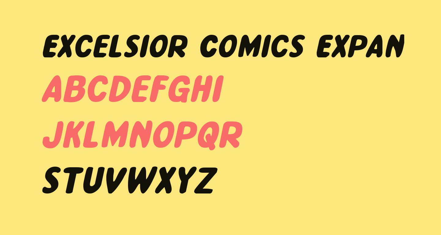 Excelsior Comics Expanded Italic