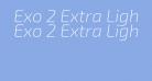 Exo 2 Extra Light Italic