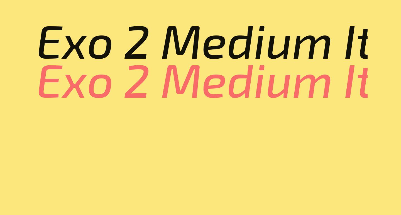 Exo 2 Medium Italic