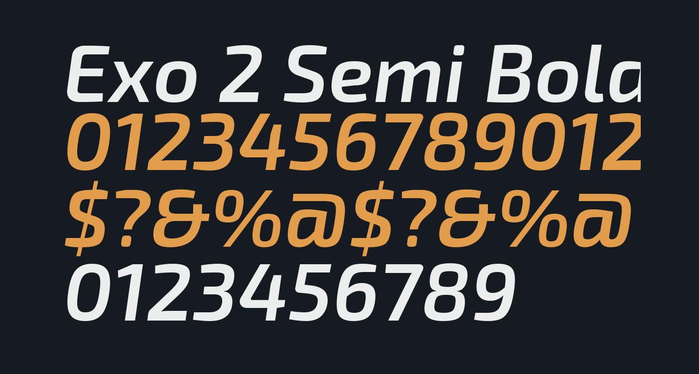 Exo 2 Semi Bold Italic