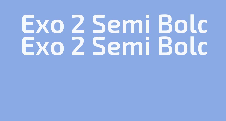 Exo 2 Semi Bold