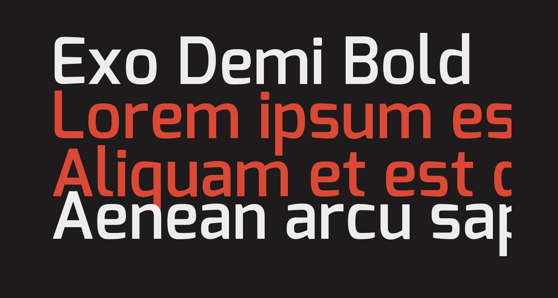 Exo Demi Bold