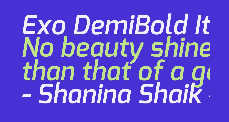Exo DemiBold Italic