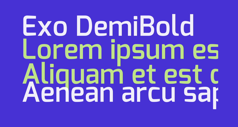 Exo DemiBold