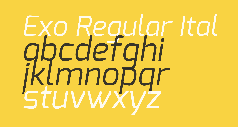 Exo Regular Italic
