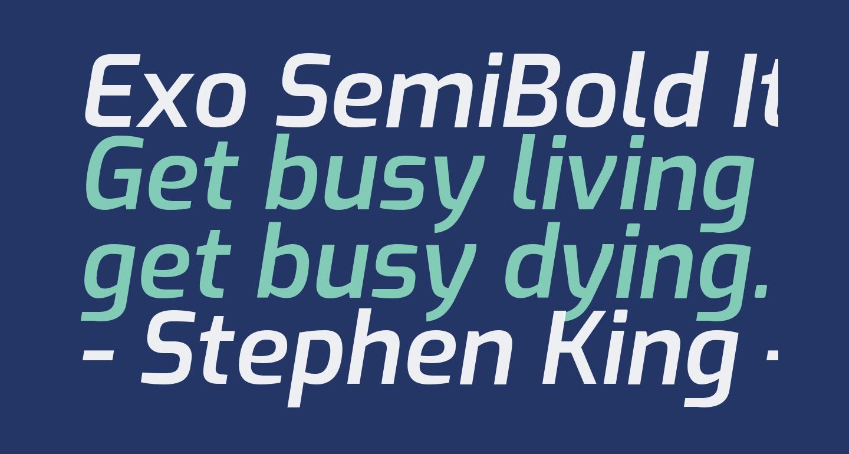 Exo SemiBold Italic