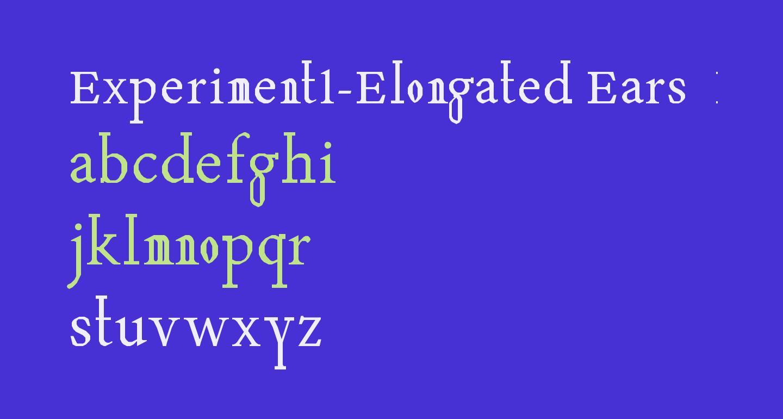 Experiment1-Elongated Ears  Regular