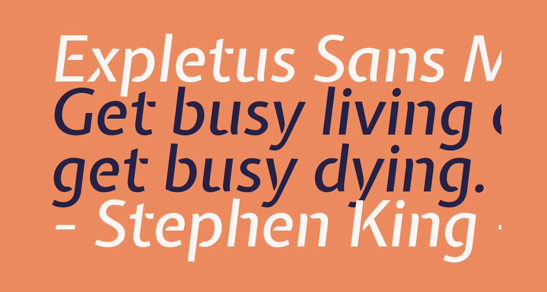 Expletus Sans Medium Italic